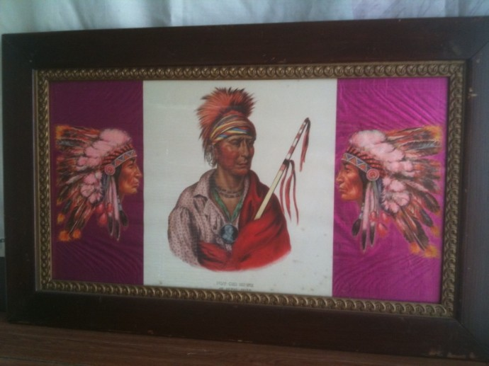 One of Don's favorite pieces of art that hung in his dining room: portrait of Not-Chi-Mi-Ne Ioway Chief